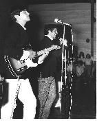 The Steamshovel performing at a teen dance in Fernandina Beach, FL.  I was perfecting my John Lennon pose.  That�s a 1967 Fender Telecaster Custom which I wish I still had.  Note: Moustache is still tragic.